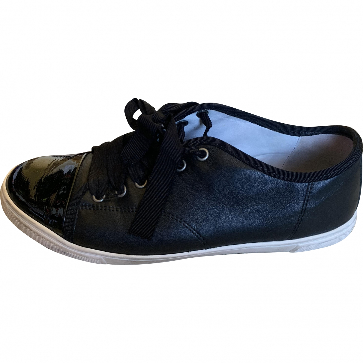 Lanvin \N Black Leather Trainers for Women 40 EU