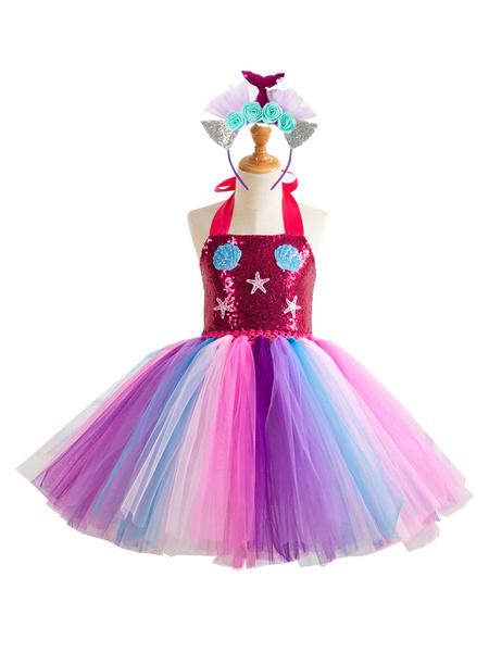 Milanoo Halloween Kids Mermaid Dress Cosplay Costume Halloween