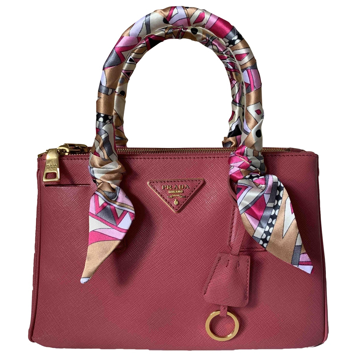 Prada saffiano  Pink Leather handbag for Women \N