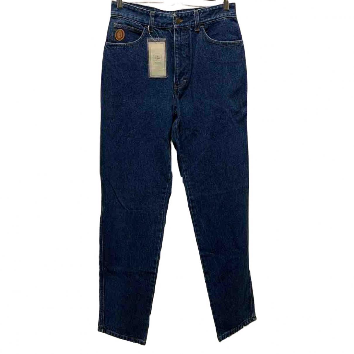 Trussardi Jeans \N Blue Cotton Jeans for Men 33 US