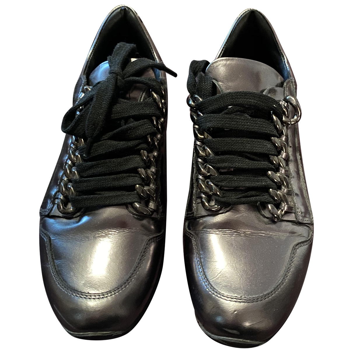 Casadei \N Silver Leather Trainers for Women 36 EU
