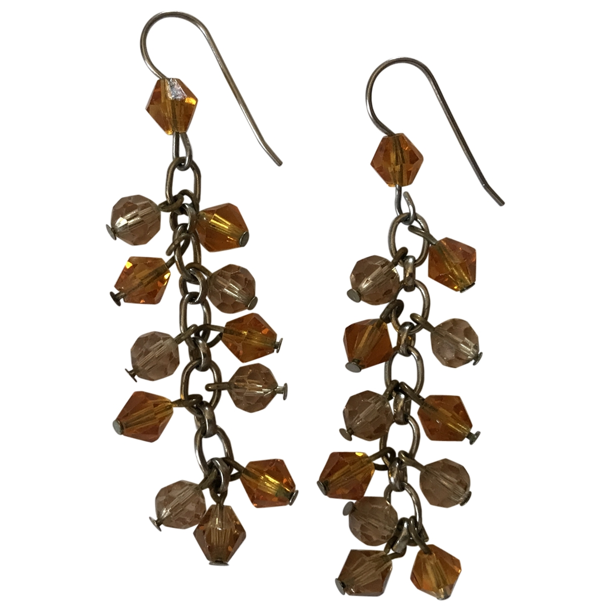 Non Signé / Unsigned \N Camel Metal Earrings for Women \N
