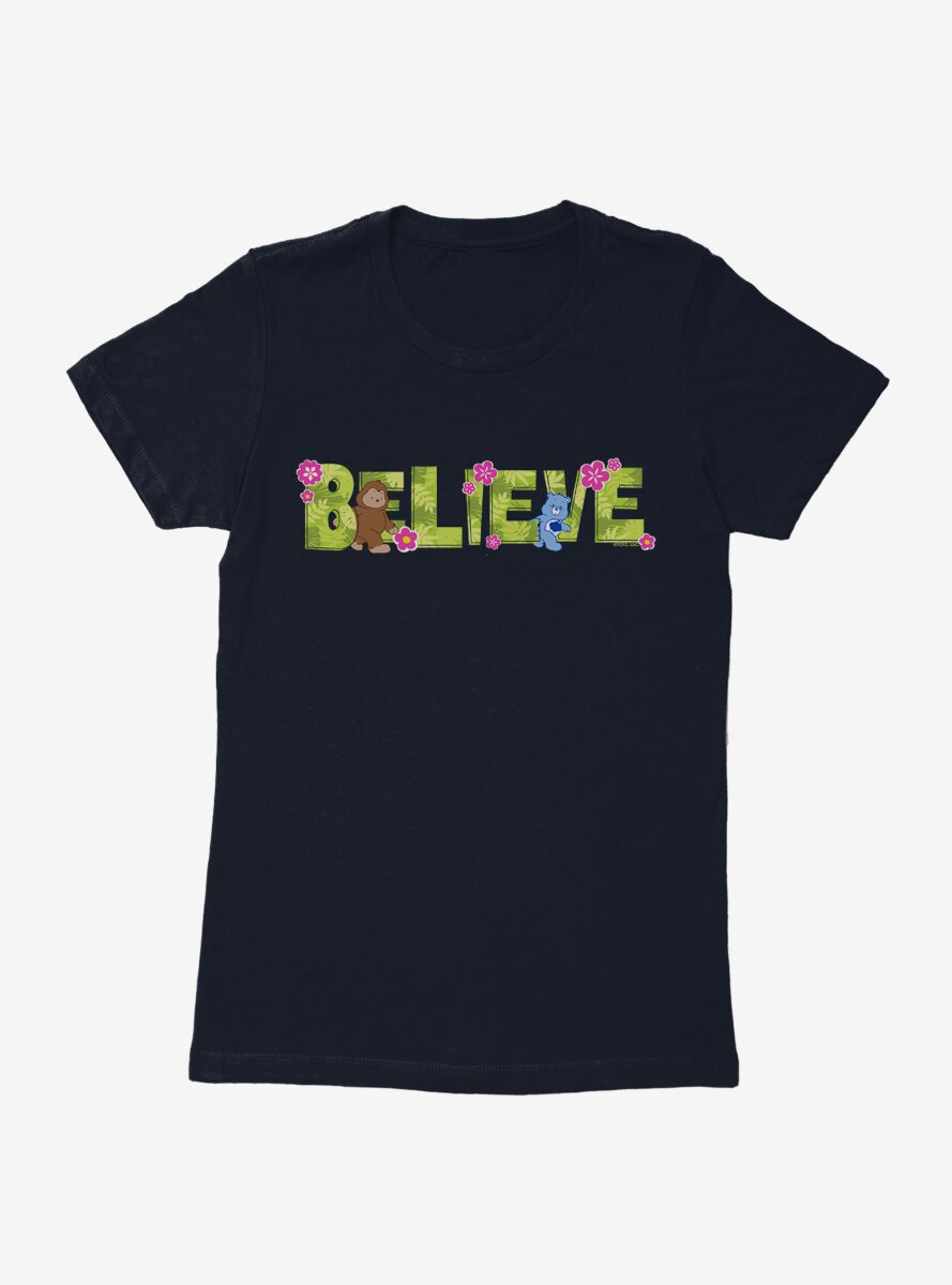Care Bears Believe Script Womens T-Shirt