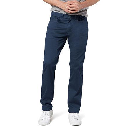 Dockers Men's Straight Fit Jean Cut Khaki All Seasons Tech Pants D2, 36 29, Blue