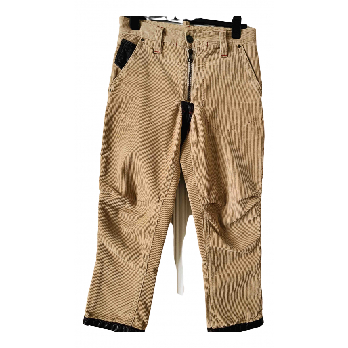 Dsquared2 \N Beige Cotton Trousers for Women 44 IT