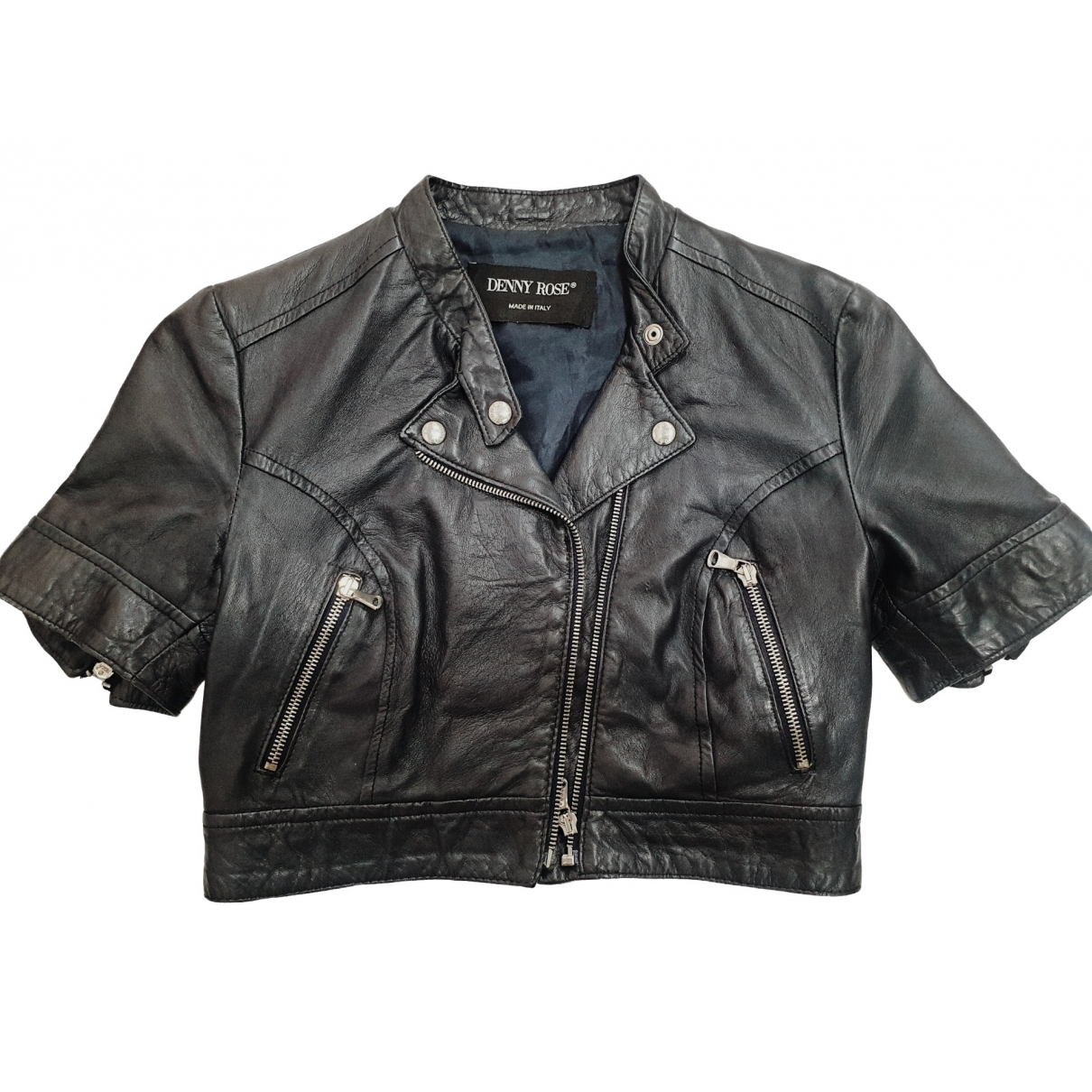 Non Signé / Unsigned \N Leather Leather jacket for Women S International