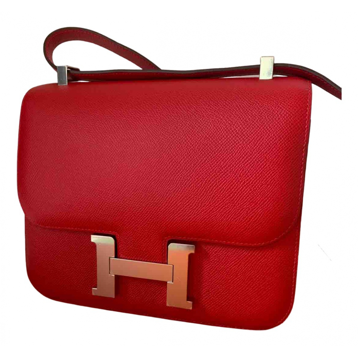 Hermès Constance Red Leather handbag for Women \N