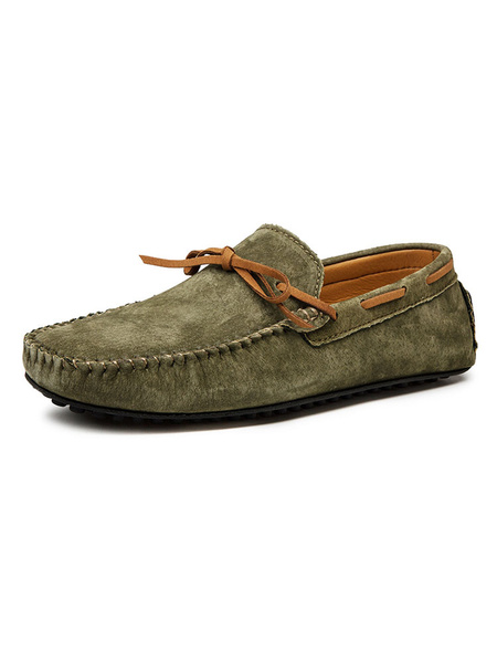 Milanoo Mens Moccasin Loafers Boat Shoes Slip-On Driving Shoes