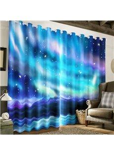 Amazing and Wonderful Galaxy Scenery Printed 2 Panels Living Room Custom Curtain