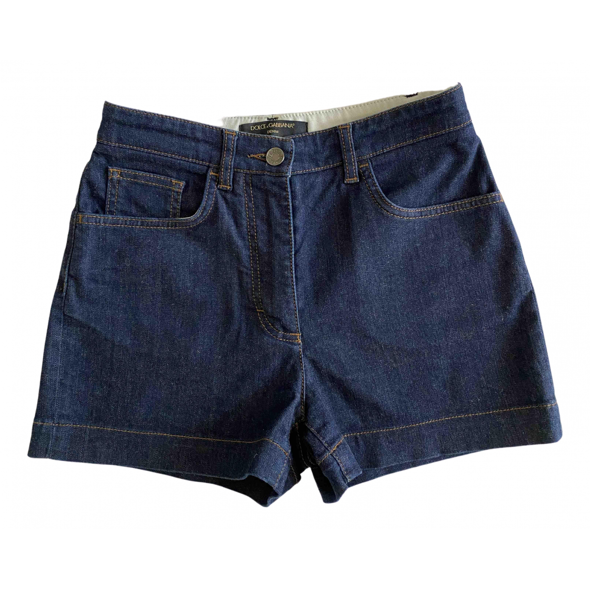 Dolce & Gabbana \N Blue Denim - Jeans Shorts for Women 38 IT