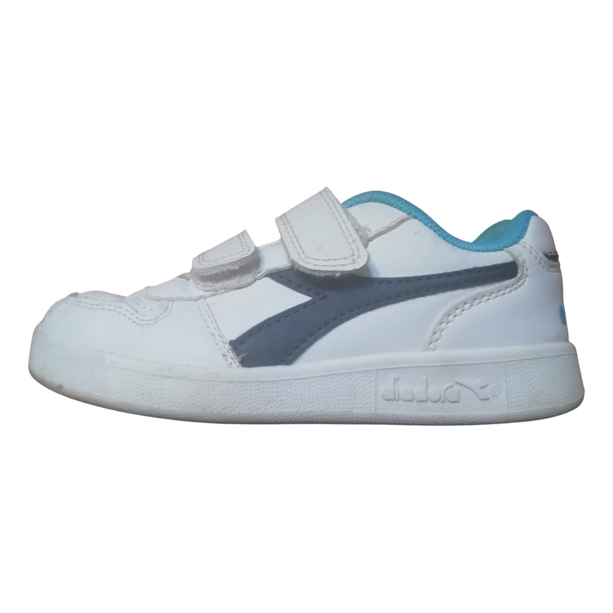 Diadora \N White Leather Trainers for Kids 11 UK
