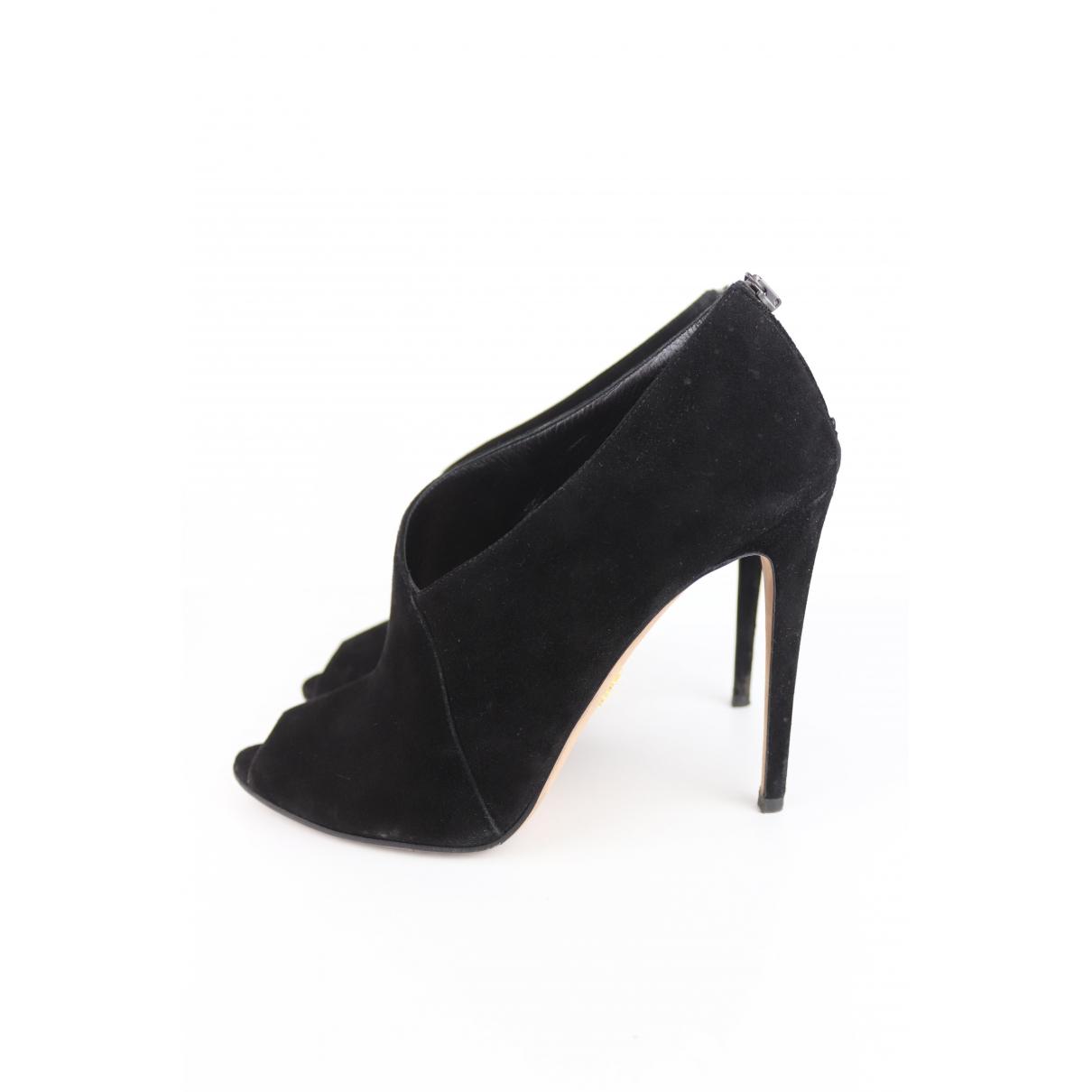 Prada \N Black Suede Heels for Women 40 EU