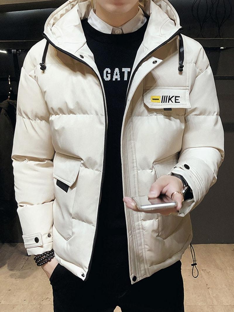 Ericdress Zipper Hooded European Men's Down Jacket