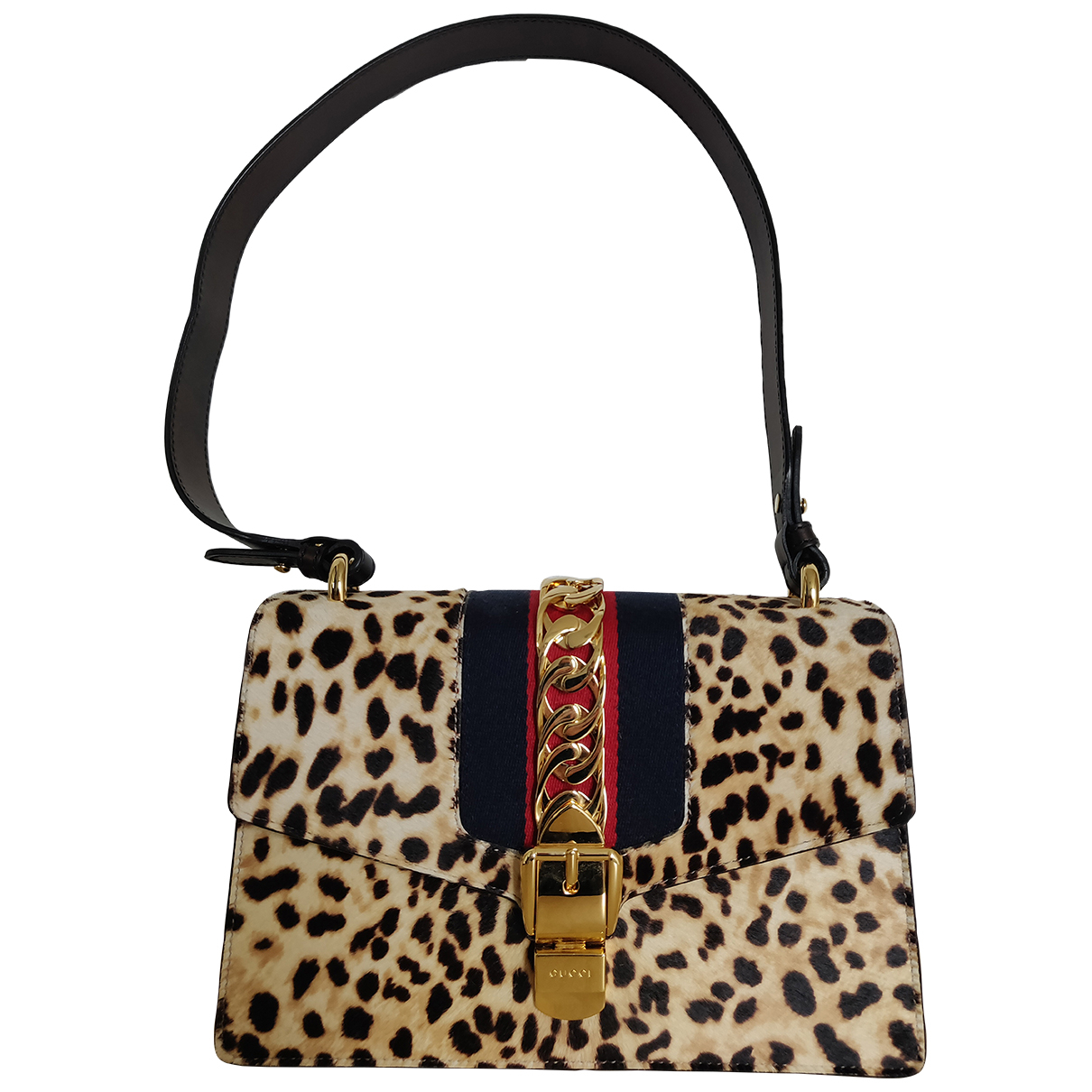Gucci Sylvie Brown Pony-style calfskin handbag for Women \N