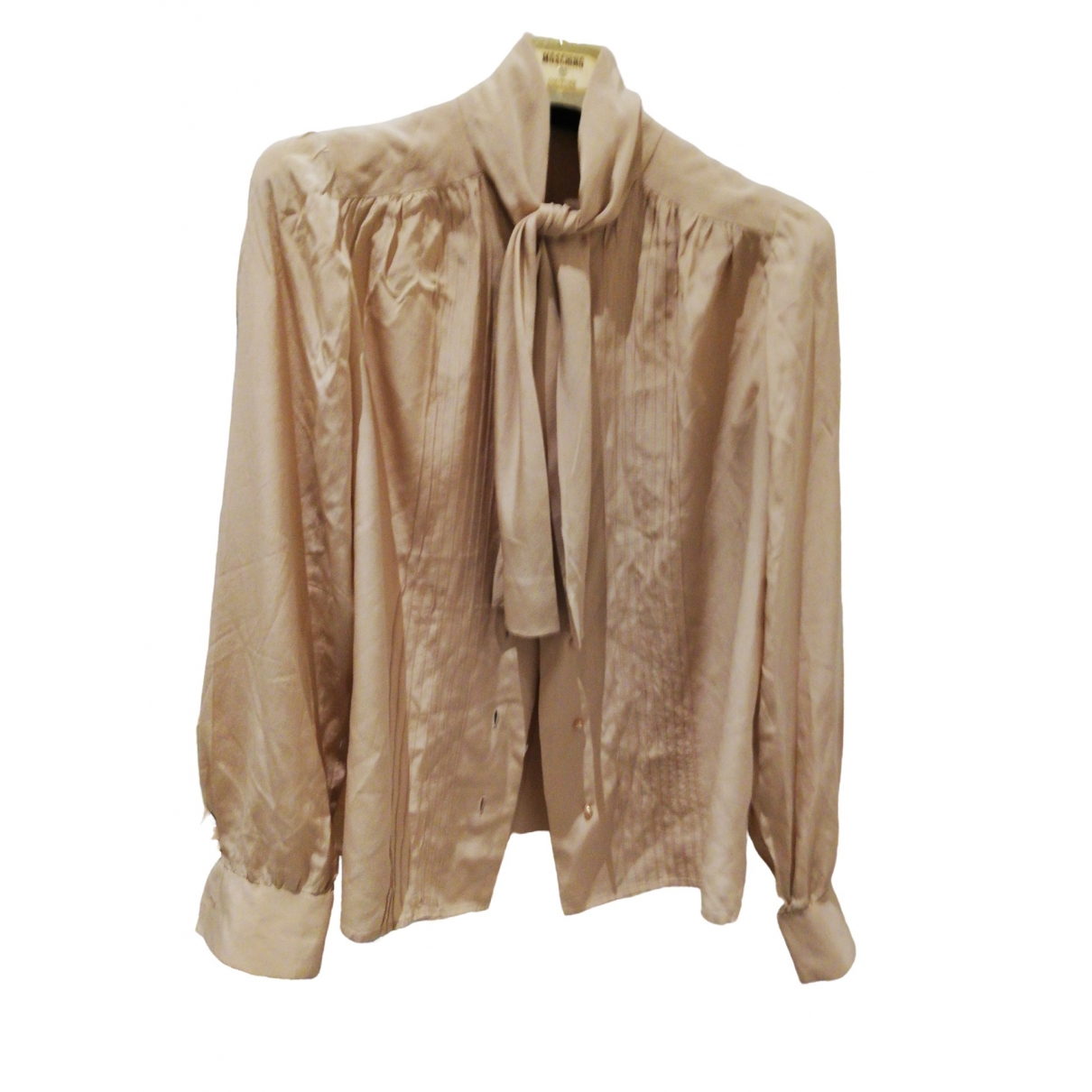 Non Signé / Unsigned \N Beige Silk  top for Women 42 IT