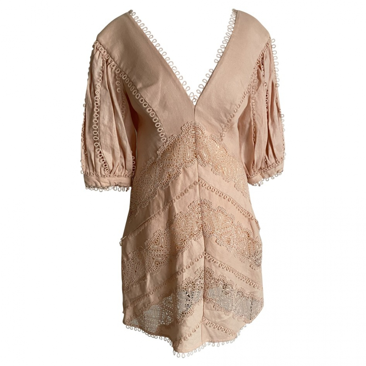 Zimmermann \N Pink Linen dress for Women 2 0-5