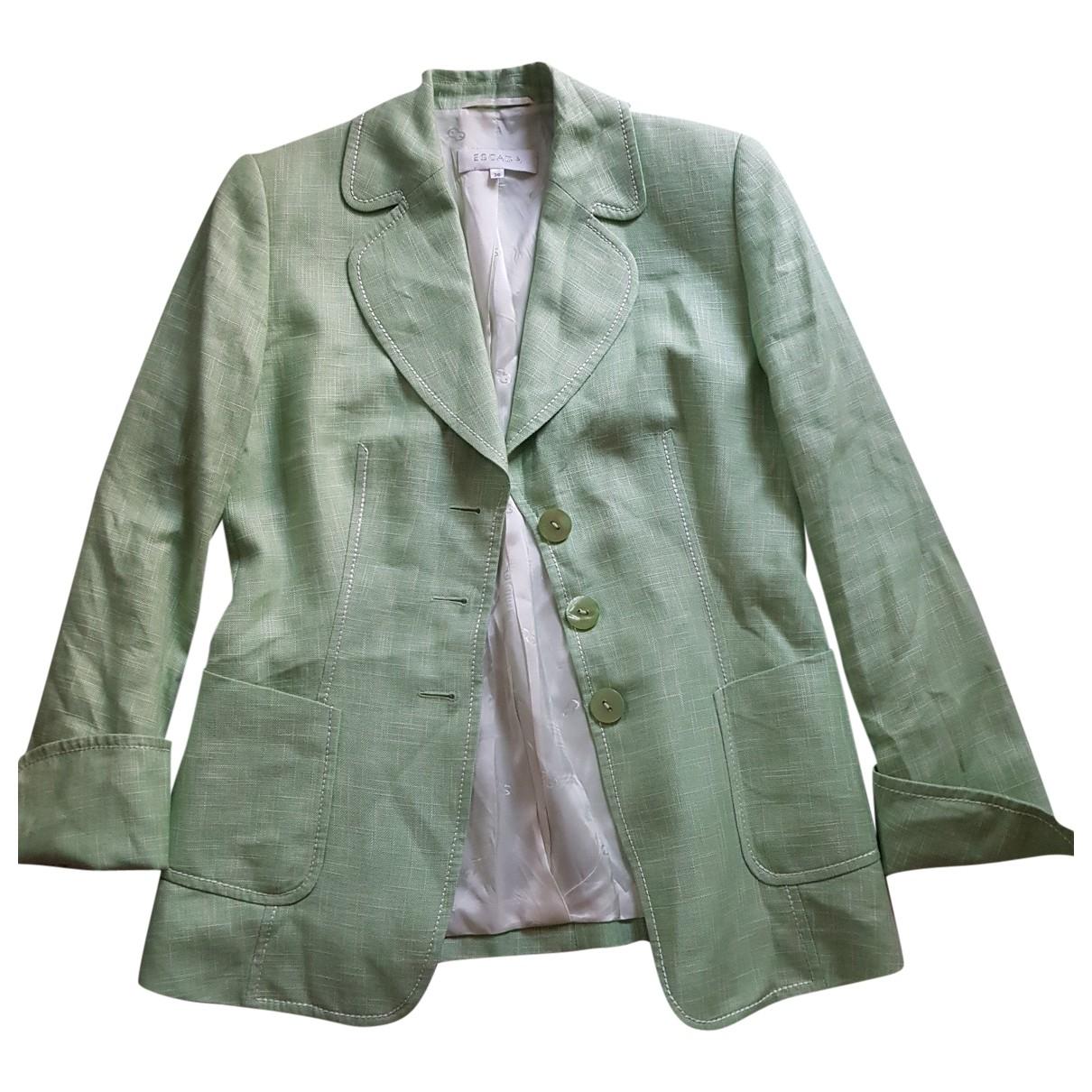 Escada \N Green Linen jacket for Women 36 FR