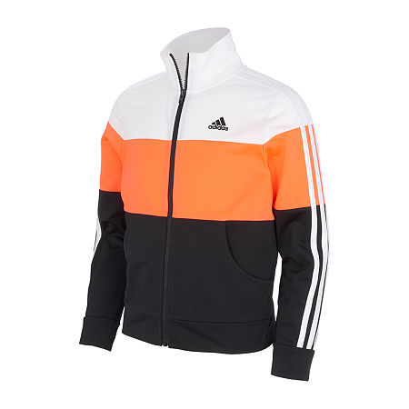 adidas Big Girls Lightweight Track Jacket, X-large (16) , Black