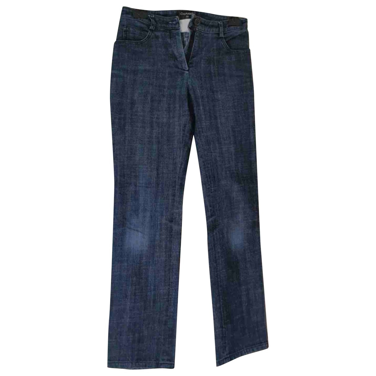 Chanel \N Blue Cotton Jeans for Women 34 FR