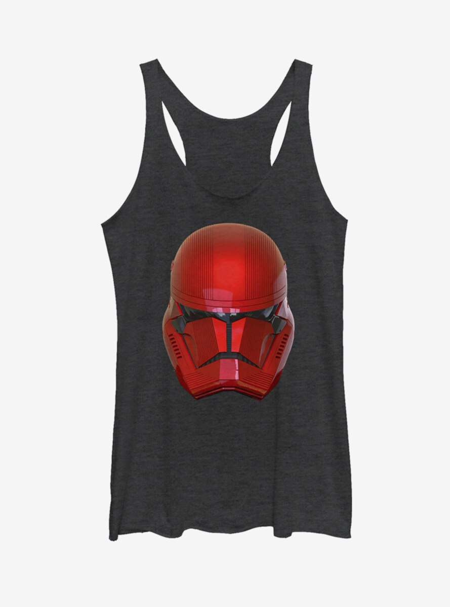 Star Wars Episode IX The Rise Of Skywalker Red Helm Womens Tank Top