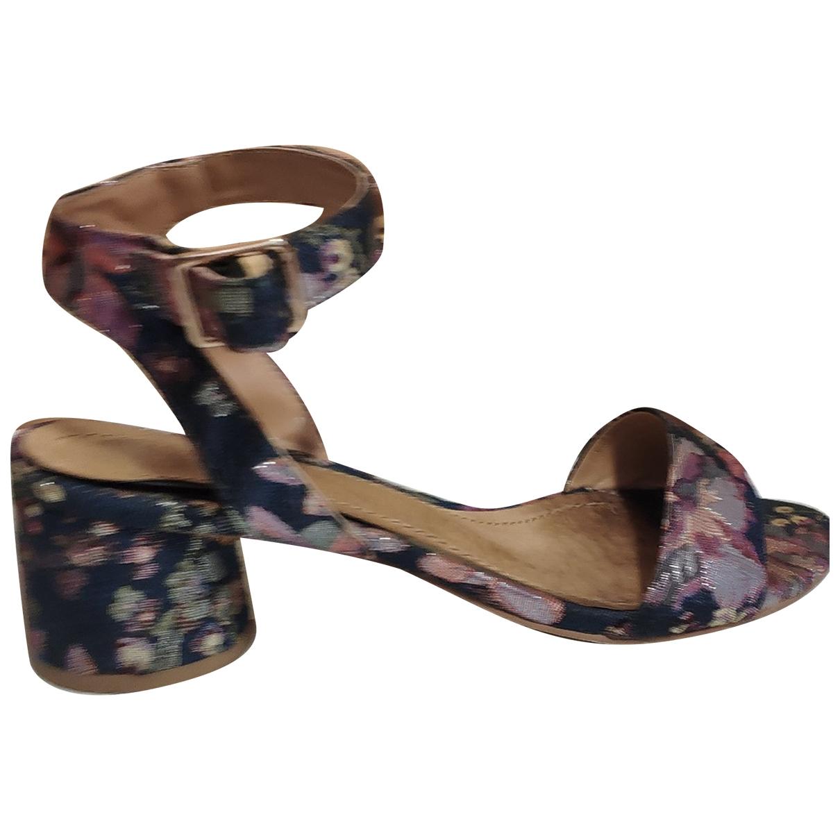 Non Signé / Unsigned \N Blue Leather Sandals for Women 37 EU