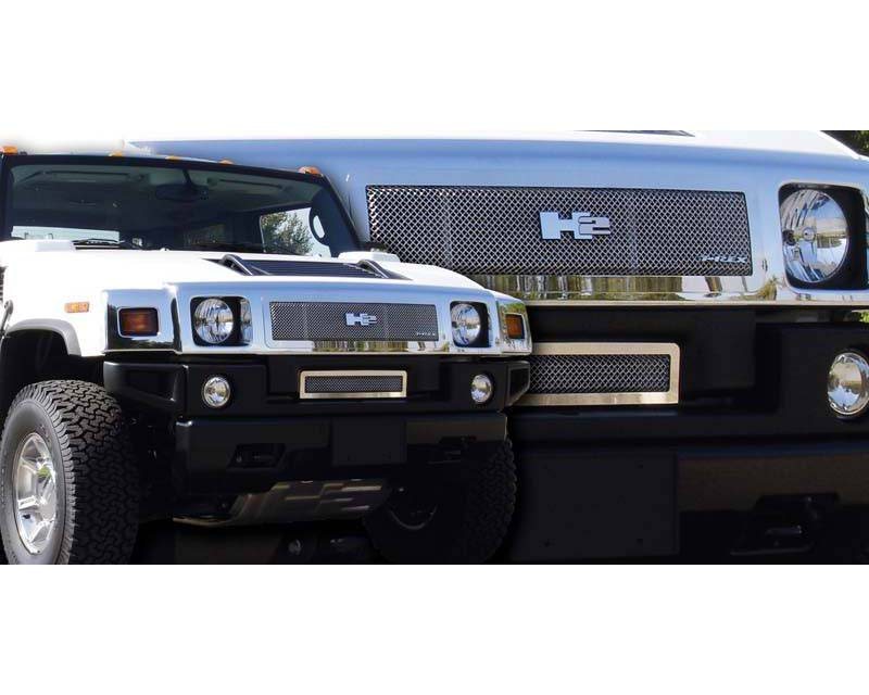 2008-2009 Hummer H2 Upper Class Grille, Polished, 1 Pc, Insert - PN #54295