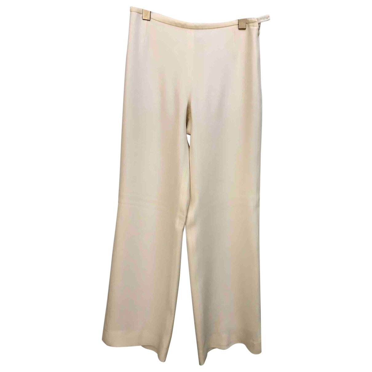 Armani Collezioni \N Ecru Trousers for Women 40 IT