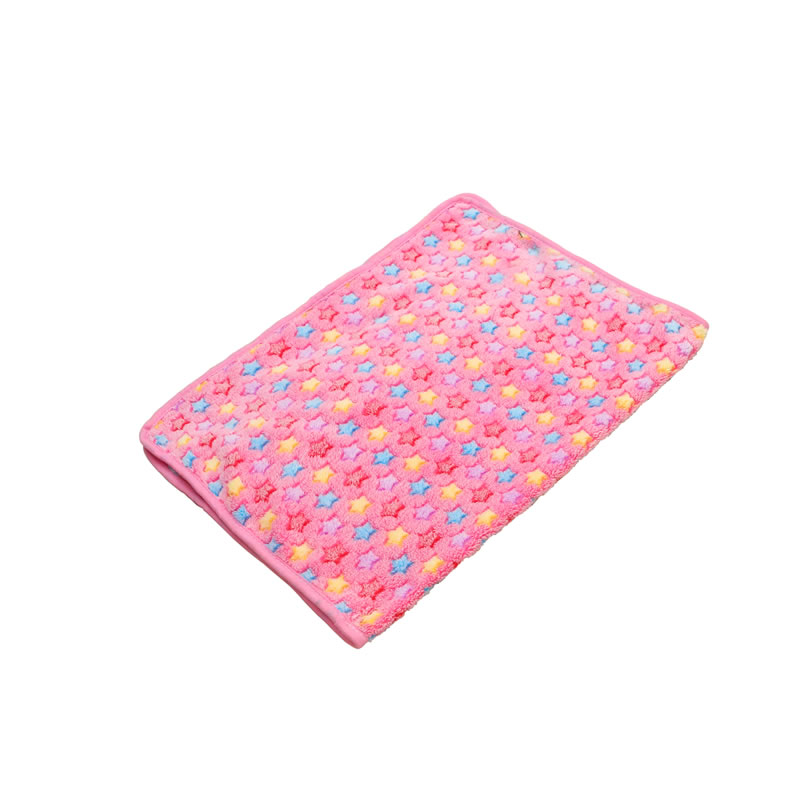 Soft Warm Flower Pattern Coral Velvet Pets Blanket