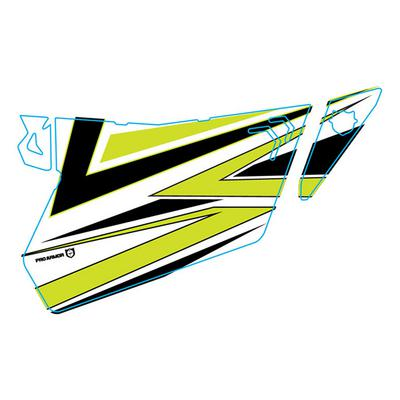 Pro Armor 2018 XP 1000 Traditional Door Graphic - (White Lightning) - P181G501WL