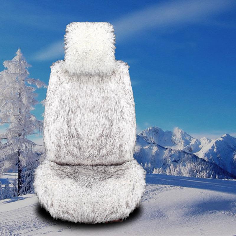 Universal Sizer Long Plush Car Seat Cover Winter Soft Warm Car Seat Cushion Mat