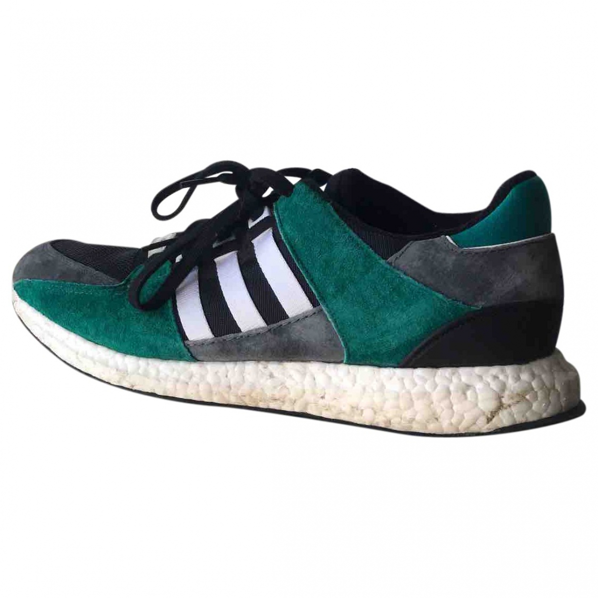 Adidas \N Green Leather Trainers for Men 46 EU