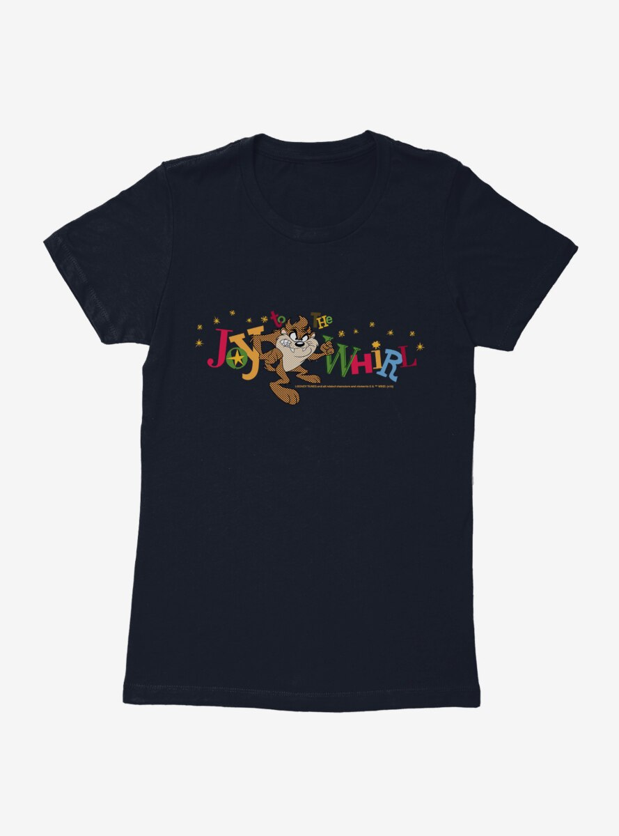 Looney Tunes Holiday Taz Joy To The Whirl Womens T-Shirt