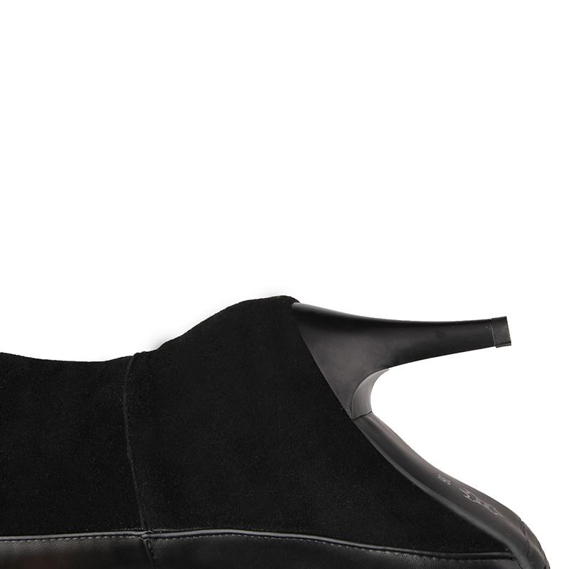 Ericdress All Match Plain Stiletto Heel Knee High Boots