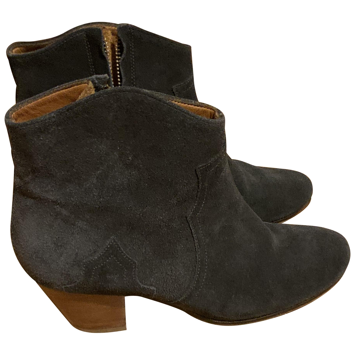 Isabel Marant Dicker Black Suede Ankle boots for Women 36 EU