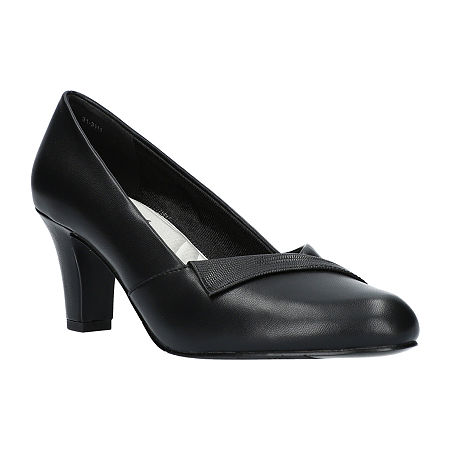 Easy Street Womens Casper Pumps Spike Heel, 9 1/2 Wide, Black