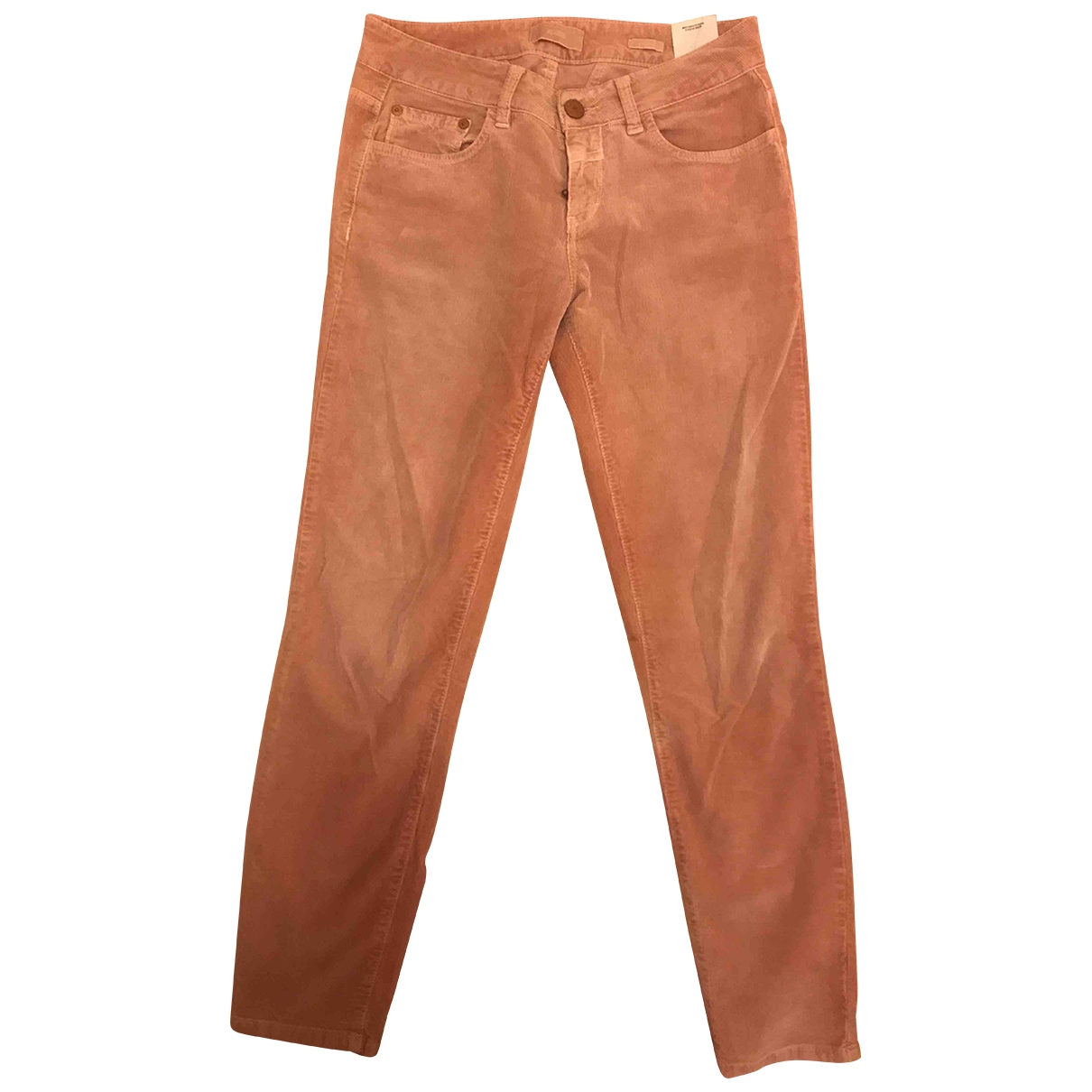 Closed \N Pink Cotton Trousers for Women 36 FR
