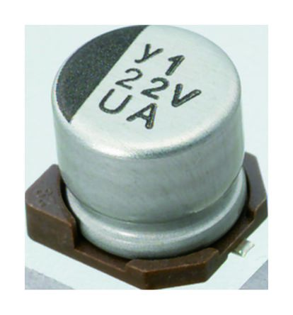 Nichicon 3.3μF Electrolytic Capacitor 50V dc, Surface Mount - UUA1H3R3MCL (10)