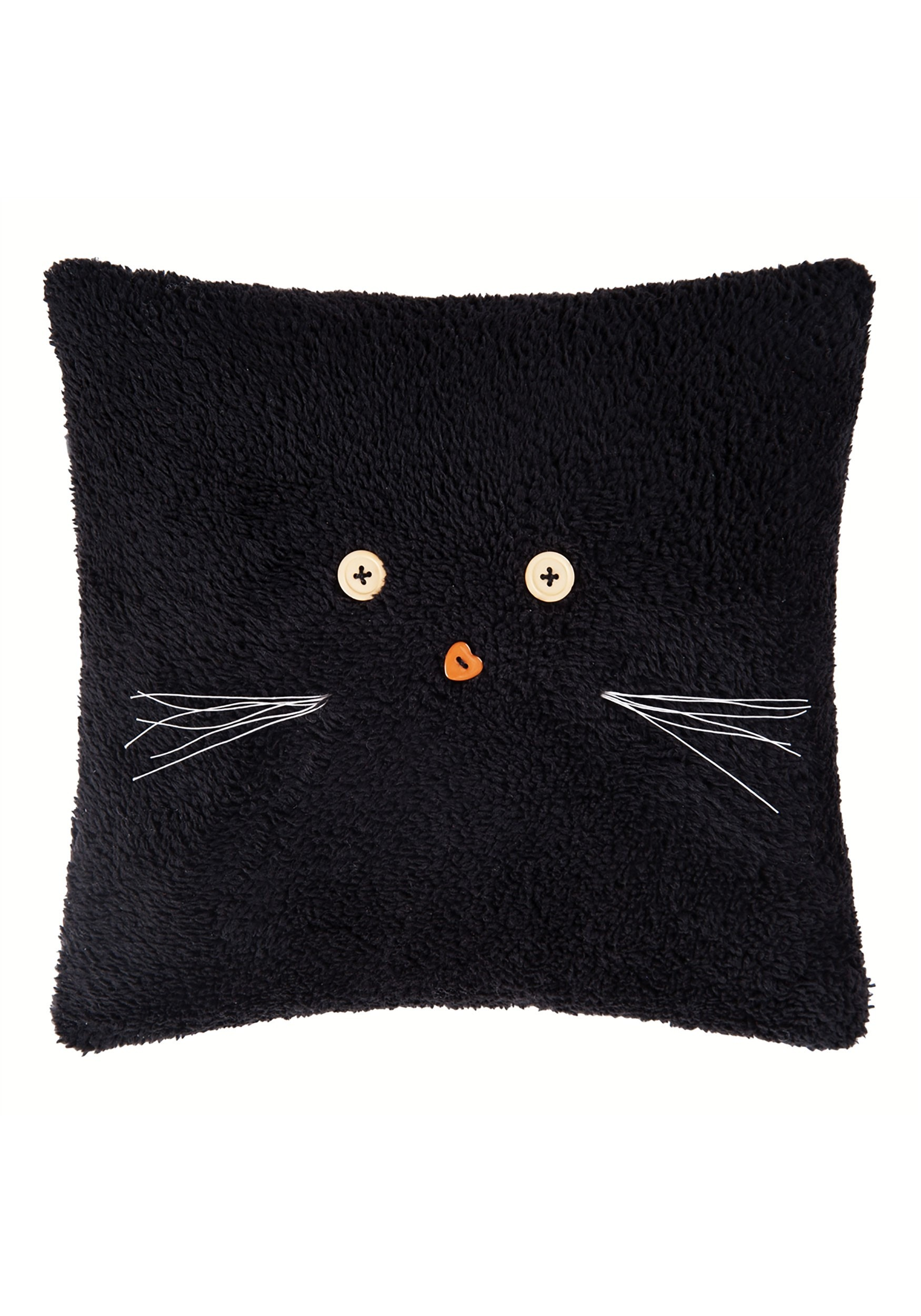 Black Cat Halloween Decor Pillow