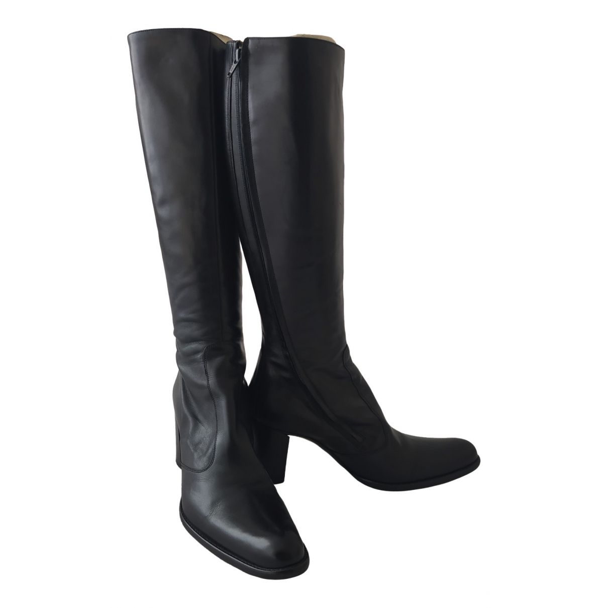 Free Lance \N Black Leather Boots for Women 40 EU