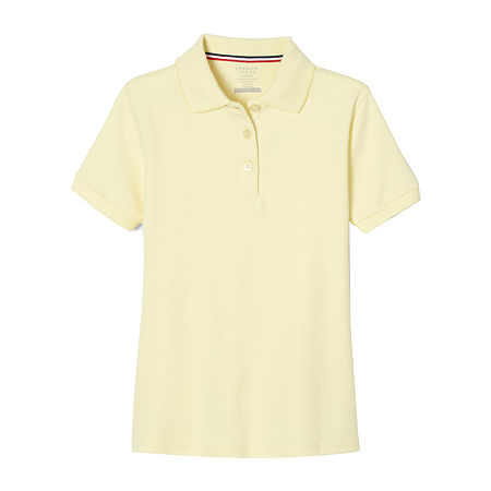 French Toast Toddler Girls Short Sleeve Polo Shirt, 3t , Yellow