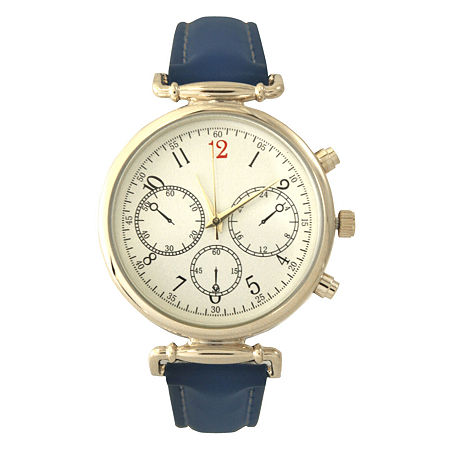 Olivia Pratt Womens Blue Strap Watch-16557, One Size , No Color Family
