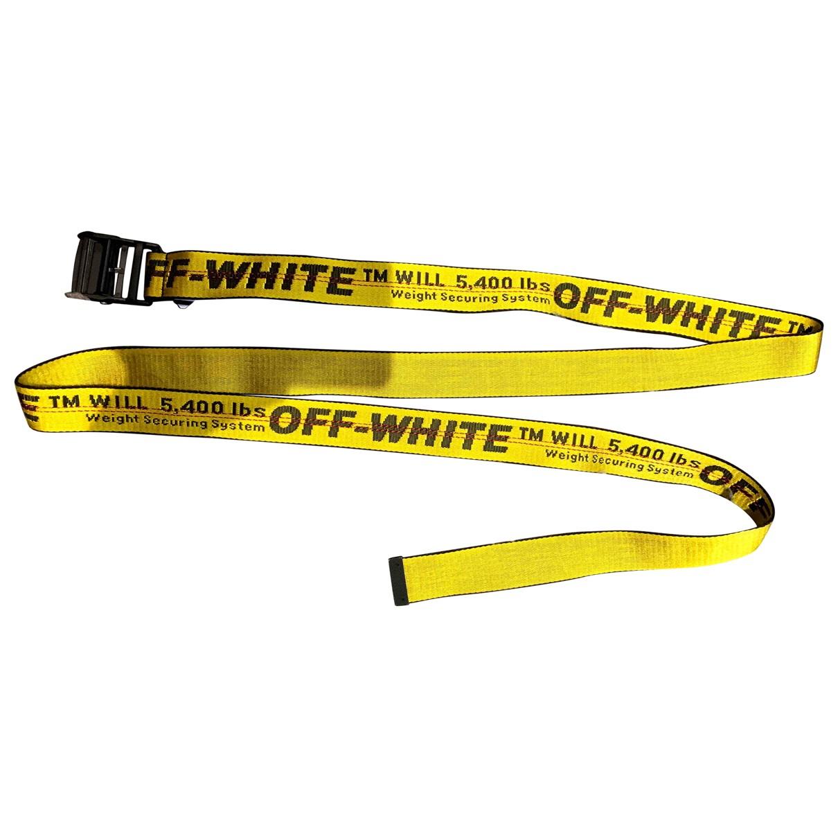 Off-white \N Yellow belt for Women S International