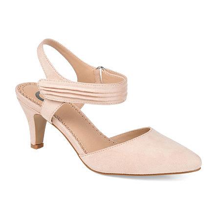Journee Collection Womens Joni Pumps Block Heel, 8 Medium, Beige