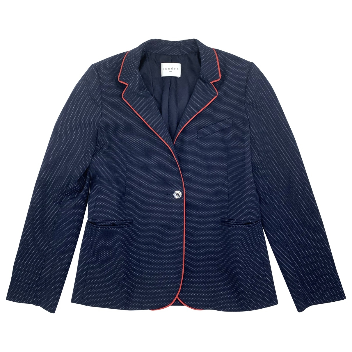 Sandro \N Blue Wool jacket for Women 38 FR