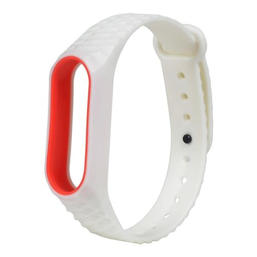 Replacement Watch Band for Xiaomi Mi Band 2 Diamond Pattern - White
