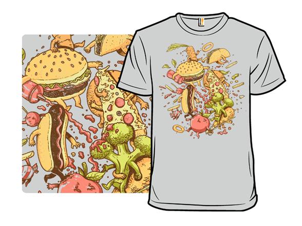 Food Fight Remix T Shirt