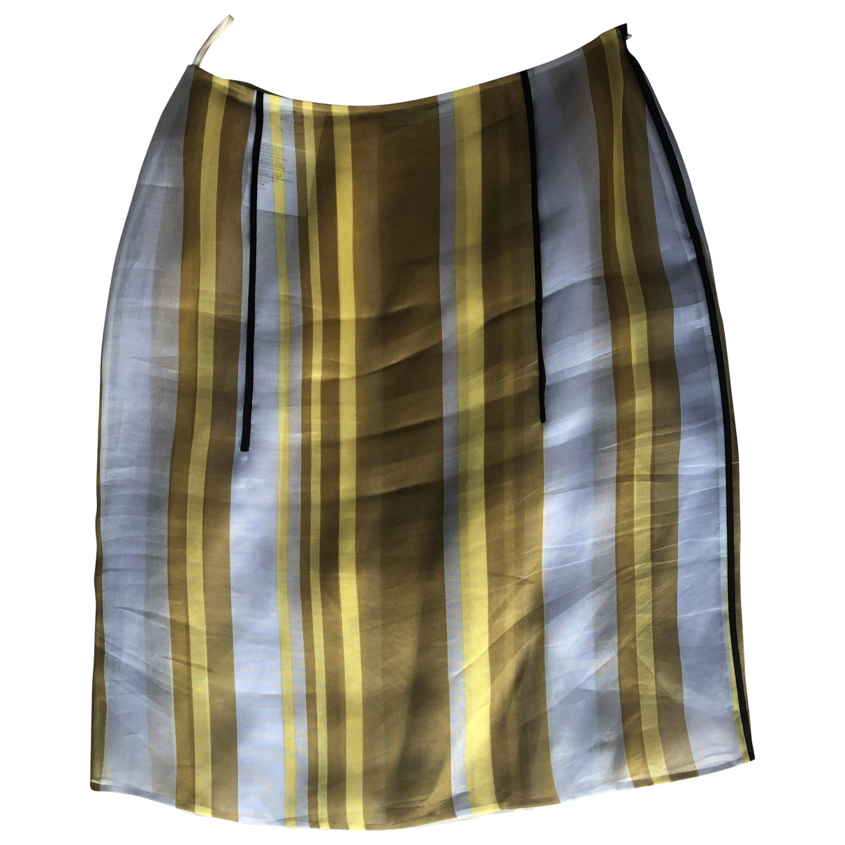 Prada \N Blue Silk skirt for Women 42 IT