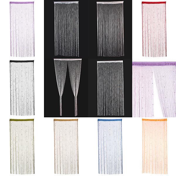Imitated Crystals Beads String Curtain Window DIY Wall Decor