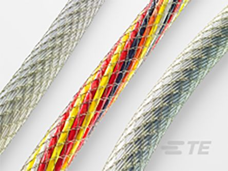TE Connectivity Expandable Braided Polyester Cable Sleeve, 20mm Diameter, 200m Length, CBMS Series