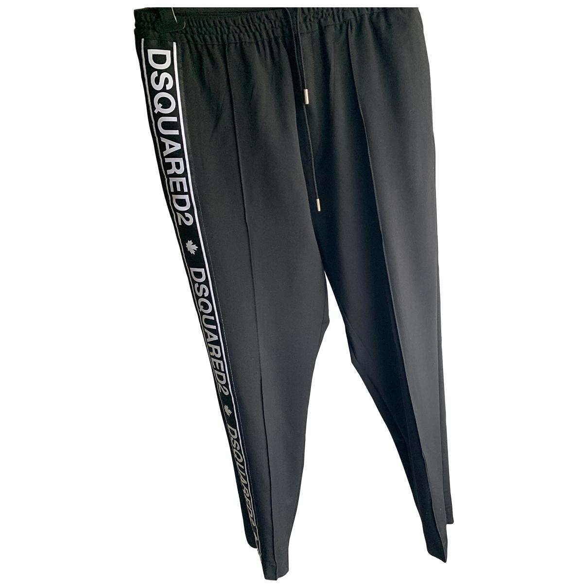 Dsquared2 \N Black Trousers for Men M International